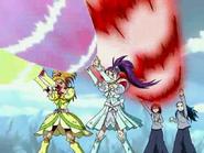 Estrella espiral y ataque michiru y kaoru
