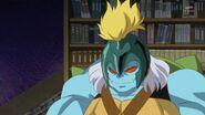 73. Gamettsu diciendo a Mirai que le entrege las Piedra Linkle