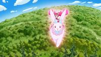 KKPCALM40-Whip riding crystal rabbit