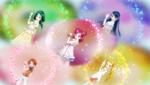 Metamorphose in summer street clothes (Nozomi, Komachi and Karen different)