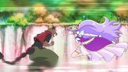 Cure Earth peleando contra Batetemoda