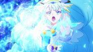 Cure Ange realizando el ataque Pluma del Corazón