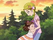 Alisa se desmaya en brazos de hikari