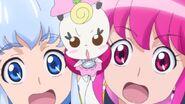 Expresiones de Princess - Ribbon y Lovely, despues de saber que la verdadera identidad de esa extraña chica era Hosshiwa