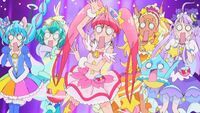 STPC31 The Cures freak out at the sight of Fuwa as a unicorn