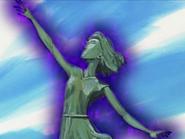 Estatua del mañana poseida