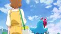 Megumi se lleva a Hime corriendo a su casa para ir a comer los panqueques