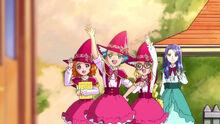 Jun, Emily, Kay and Liz say goodbye to Mirai and co