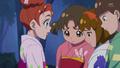 Haruka habla con las admiradoras de Yuuki