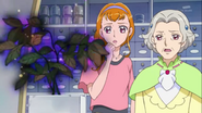 Kyoko and Kanoko watching the plant witted