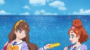 Kirara paseando con Haruka
