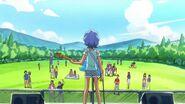 Aoi viendo su escenario vacio