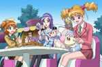 Fresh Pretty Cure Visual of the girls looking after Chiffon