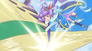 Magical en su estilo Zafiro golpeando al Yokubaru