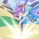 Magical en su estilo Zafiro golpeando al Yokubaru.jpg