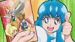 Hime Holding a Card of Bombergirls Precures