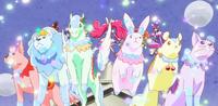 KKPCALM48-Crystal Animals transformed into steeds