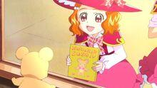 Kay shows Mofurun her mofurun book