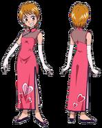 Perfiles de Nagisa con un vestido elegannte