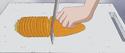 Makopi choping carrots