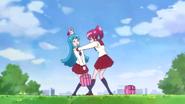 Megumi respondiendole que no esta bien y le transmite felicidad
