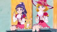 Mirai, Mofurun y Riko almorzando