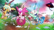Las Pretty Cure son atacadas por las gotas de lluvia