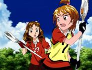Nagisa yuka jugando lacrosse