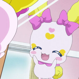 Candy looks in the mirror for her bunny rabbit earstyle.jpg