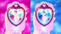 Cartas bonitas de enfermeras en el bonito espejo cambio