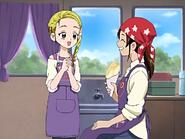 Akane aprueba el crepe