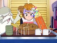 Jefe del consejo sabiduria discuten torta de arroz