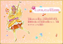 Profile of Cure Soleil from Hoshi no Uta ni Omoi wo Komete