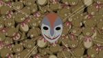 The Kowaina mask on the bear's