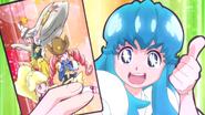 Hime emocionada por la carta que encontro de las Bomber Girls Pretty Cure