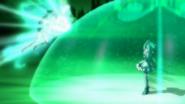 Cure Mint blocking Dark Mint with Mint Shield