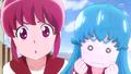 Megumi y Hime expentantes por la respuesta de Yuko