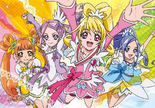 Official Art featuring the four Dokidoki Cures