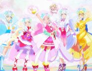 Hugtto Pretty Cure Estilo Animado