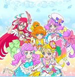 Tropical-Rouge! Pretty Cure visual for the cutie figures