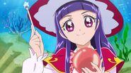 57. Riko a punto de realizar un hechizo sobre una fruta....
