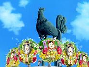 Estatua feria del gallo