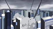 Moebius' attack on Lower Manhattan, New York City