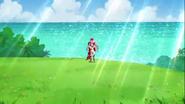 Scarlet ayudando a Yui