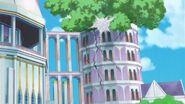 Una llanta choca en la torre del arbol
