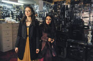 Spencer and mona in a's lair
