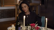 Mona eating Spencer's food