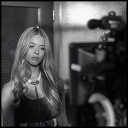 Sasha on camera
