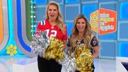 Cheering Rachel & Amber