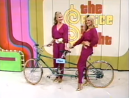 Janice and Holly on a Bike